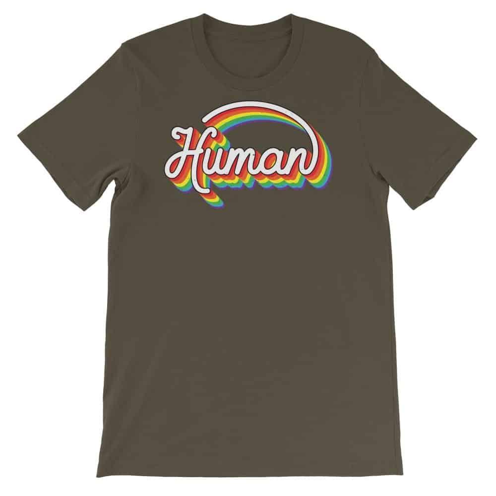 Human Rainbow Pride Tshirt