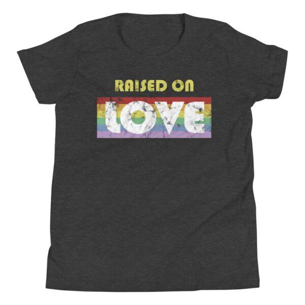 Gay Pride Raised on Love Kid Tshirt