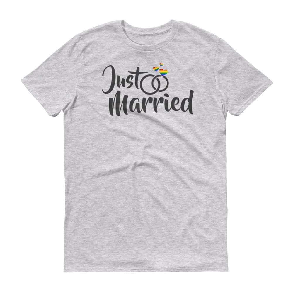 Just Married LGBTQ Pride Tshirt