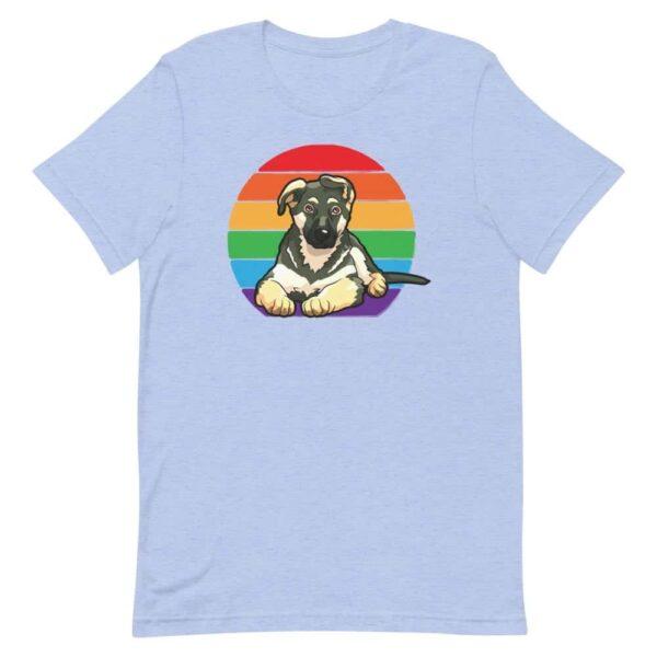 Rainbow Pride German Shepherd Tshirt