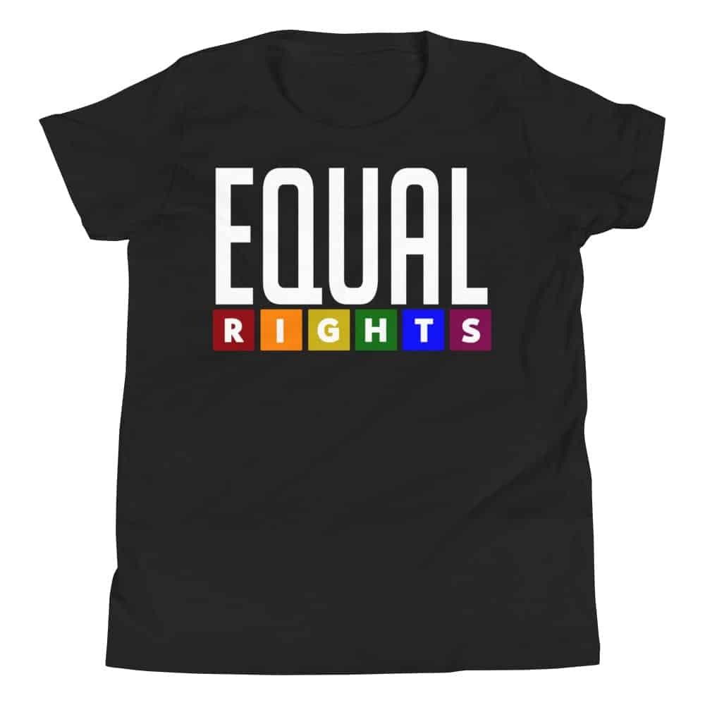 EQUAL RIGHTS Kid Tshirt Black