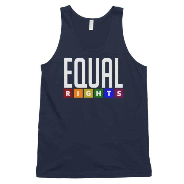 Equal Rights LGBTQ Tank Top Navy