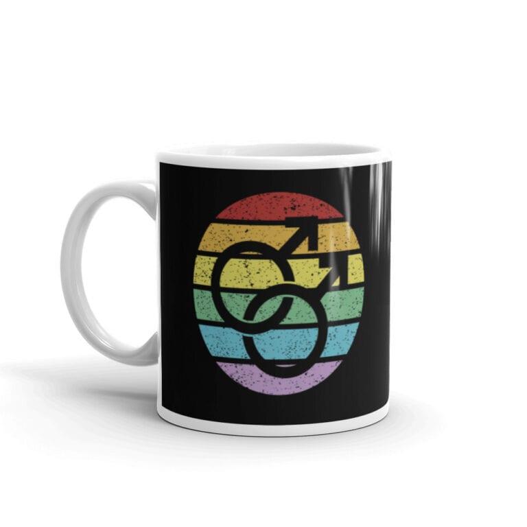Retro Gay Male Symbol Pride Coffee Mug