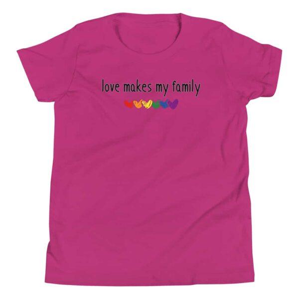 Love Makes My Family LGBTQ Pride Kid Tshirt