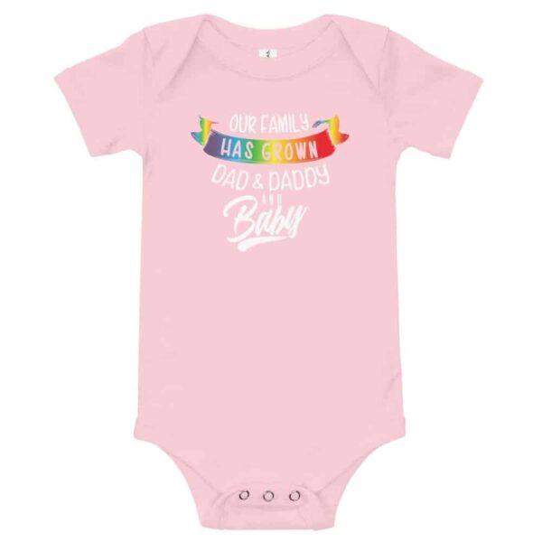 Dad Daddy & New Baby LGBT Bodysuit