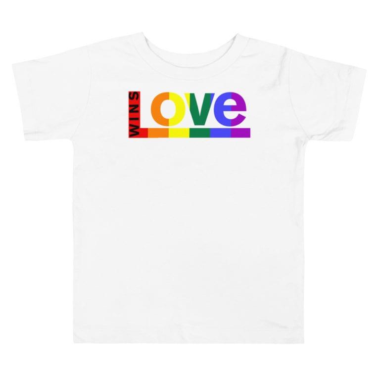 Equal Rights LGBTQ Pride Toddler Tshirt White