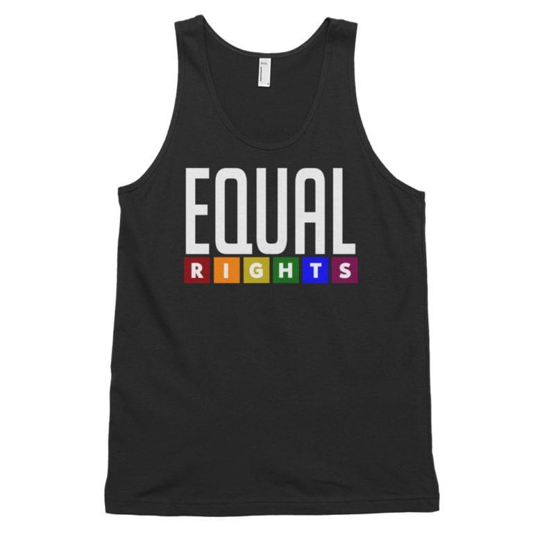 Equal Rights LGBTQ Tank Top Black