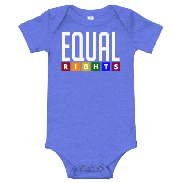 Equal Rights LGBTQ Pride One Piece Baby Bodysuit Blue