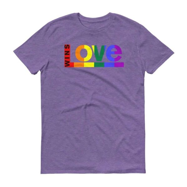 Love WINS LGBTQ Pride Tshirt Purple