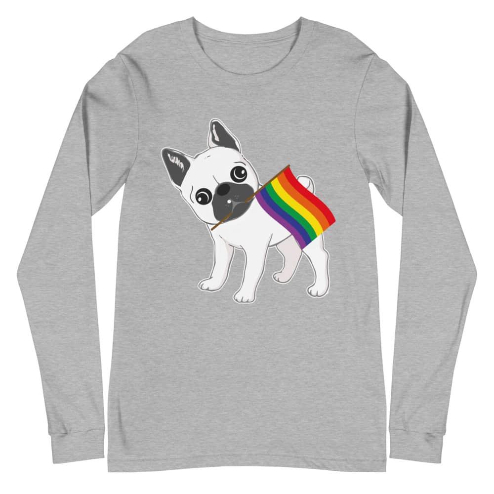 LGBTQ Pride French Bull Dog Long Sleeve Tshirt