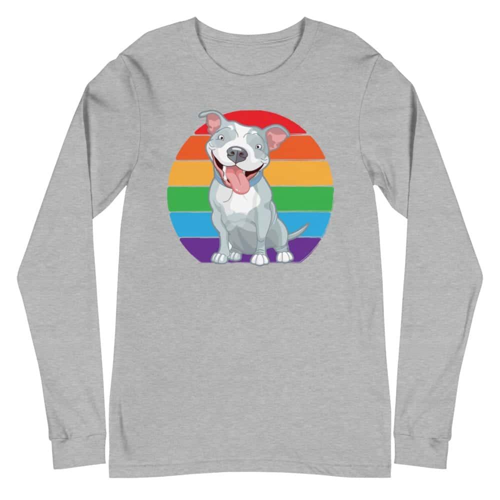Pit Bull Rainbow Pride Long Sleeve Tshirt