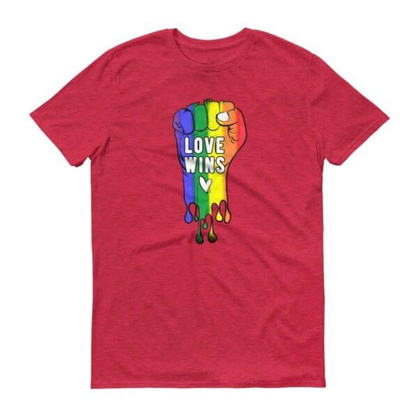 LOVE WINS Pride Tshirt Red