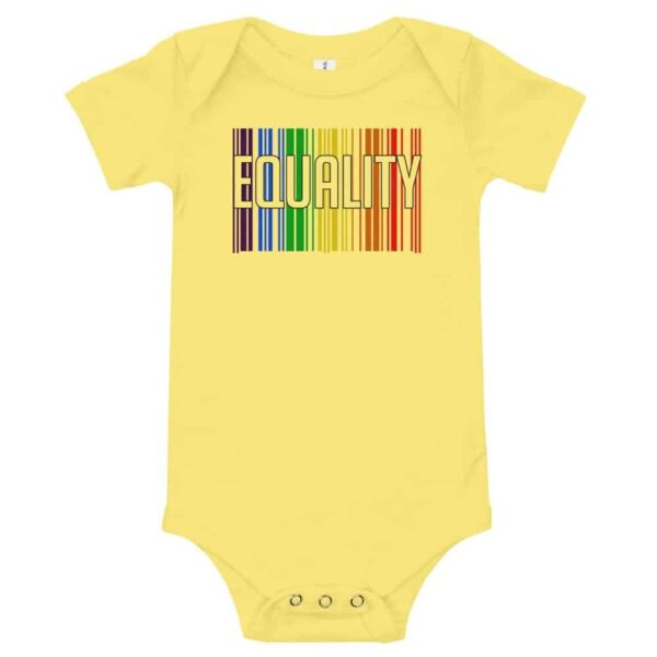EQUALITY Baby Onepiece Bodysuit Yellow