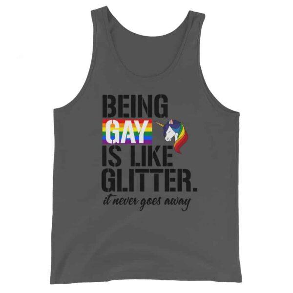 Being Gay Is Like Glitter Gay Pride Tank Top