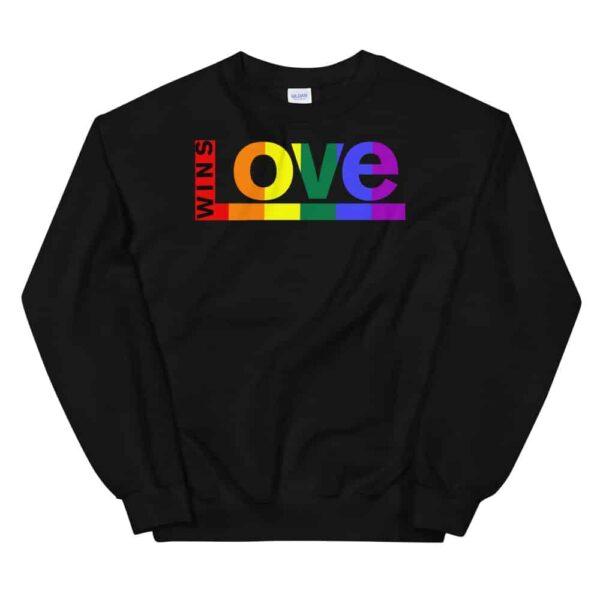 Love Wins LGBTQ Sweatshirt Black
