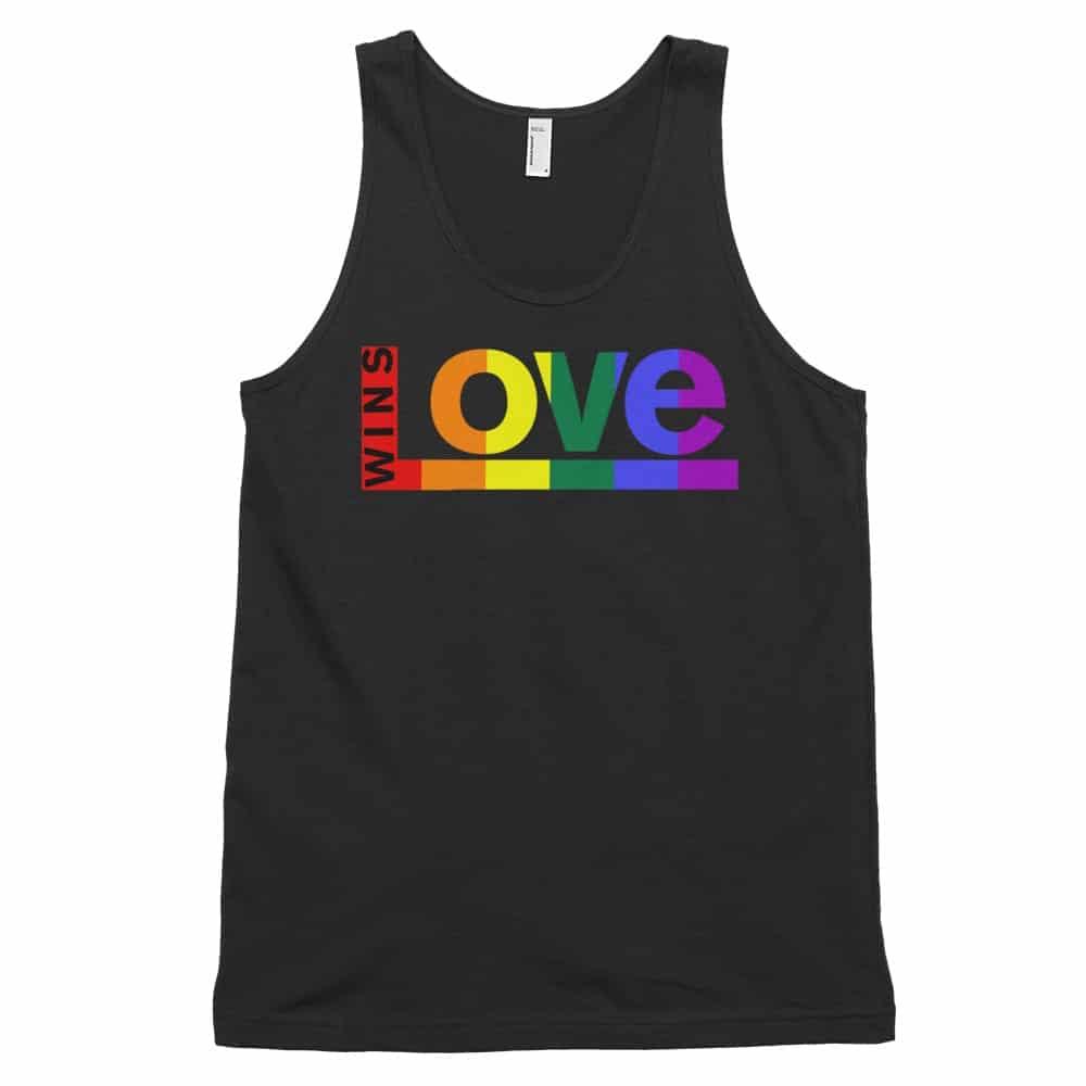 Love Wins Rainbow Tank Top Black