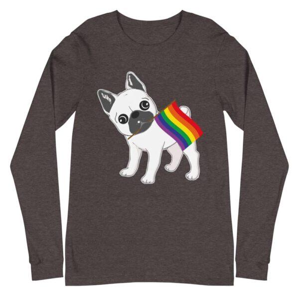 French Bull Dog LGBT Pride Long Sleeve Tshirt