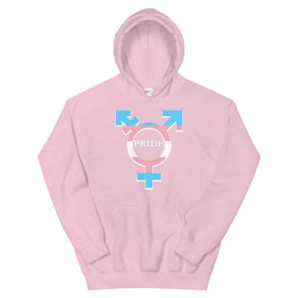 Transgender Pride Hoodie Pink