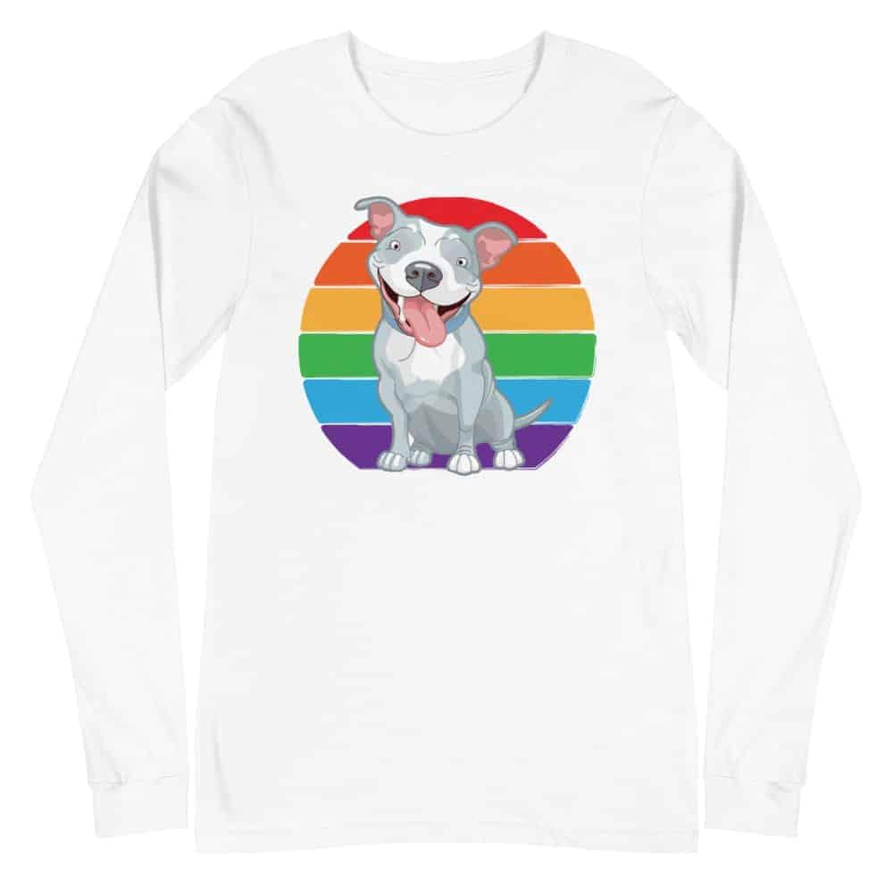 Pit Bull LGBTQ Pride Long Sleeve Tshirt
