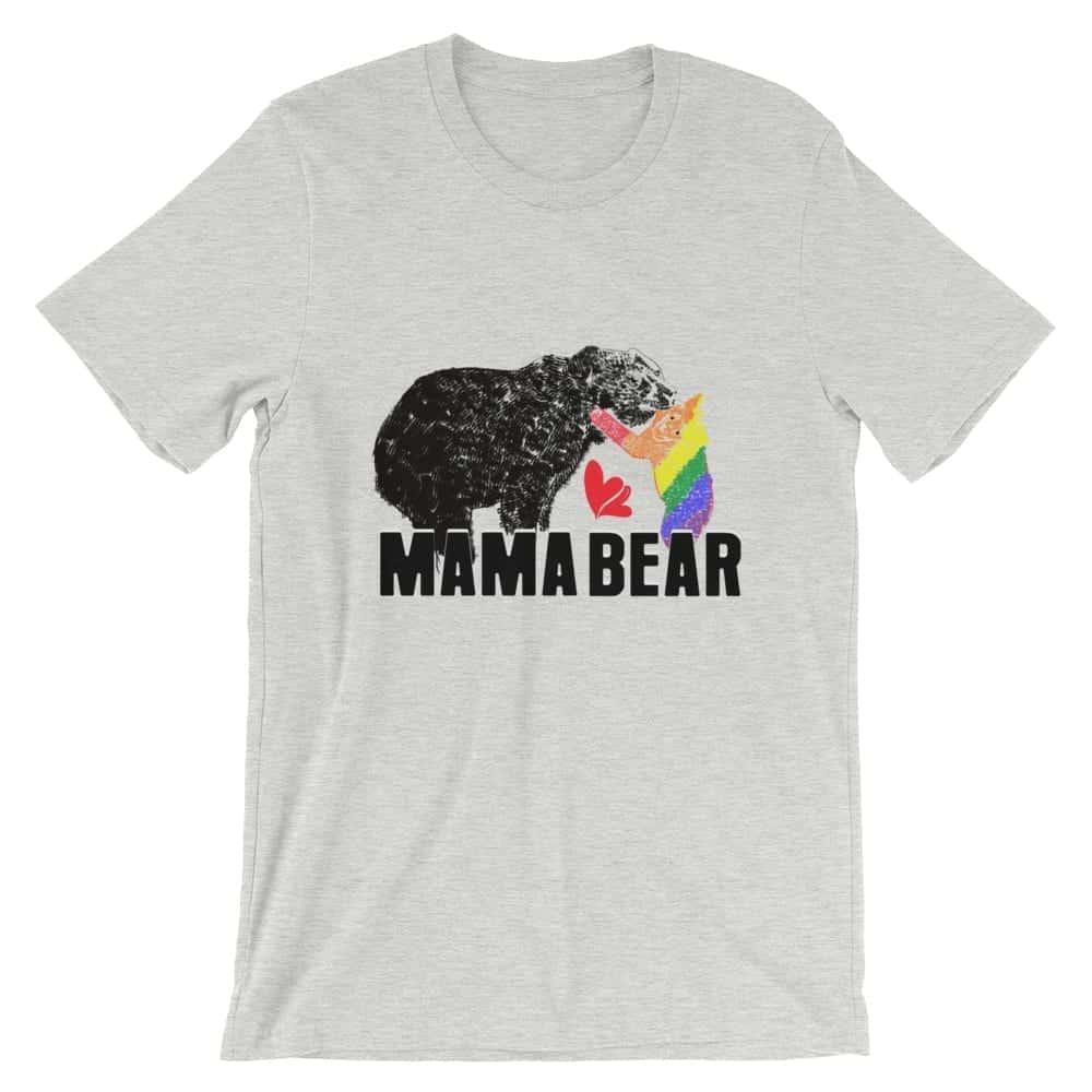mama bear gay baby unisex tshirt athletic heather