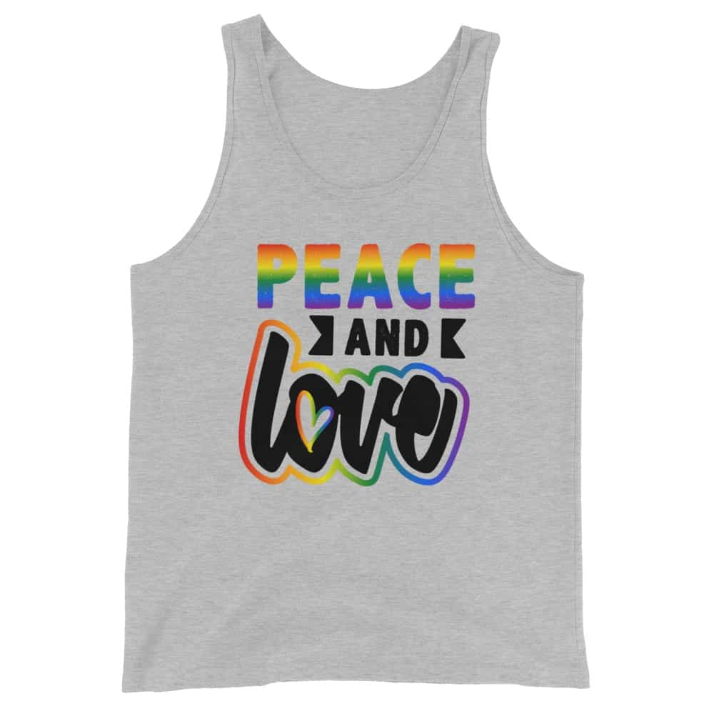 Peace & Love Gay Pride Tank Top