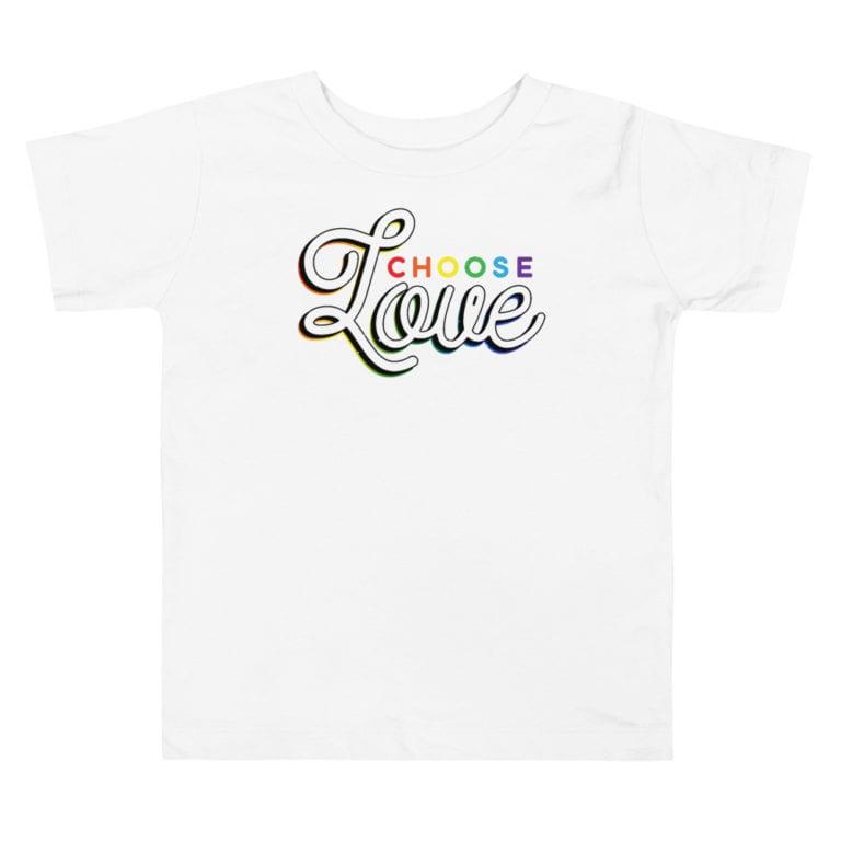 Choose Love Gay Pride Toddler Tshirt