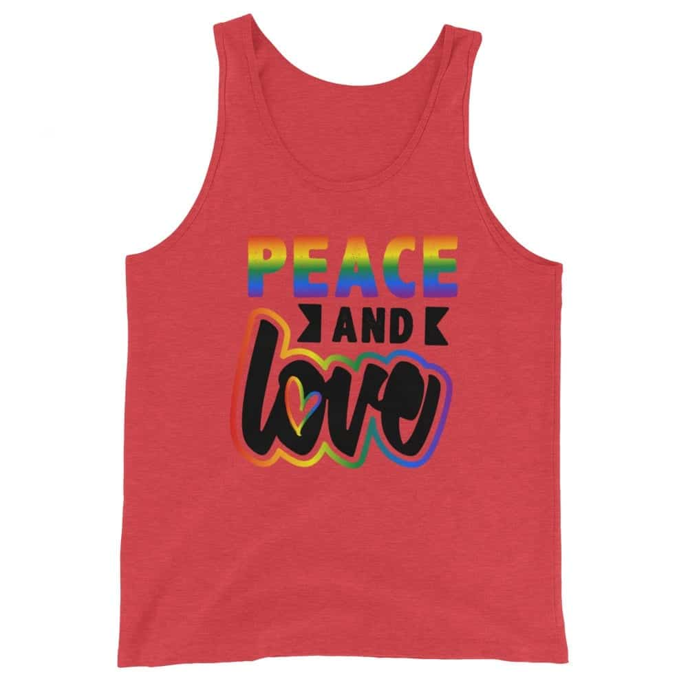 Peace & Love LGBT Pride Tank Top