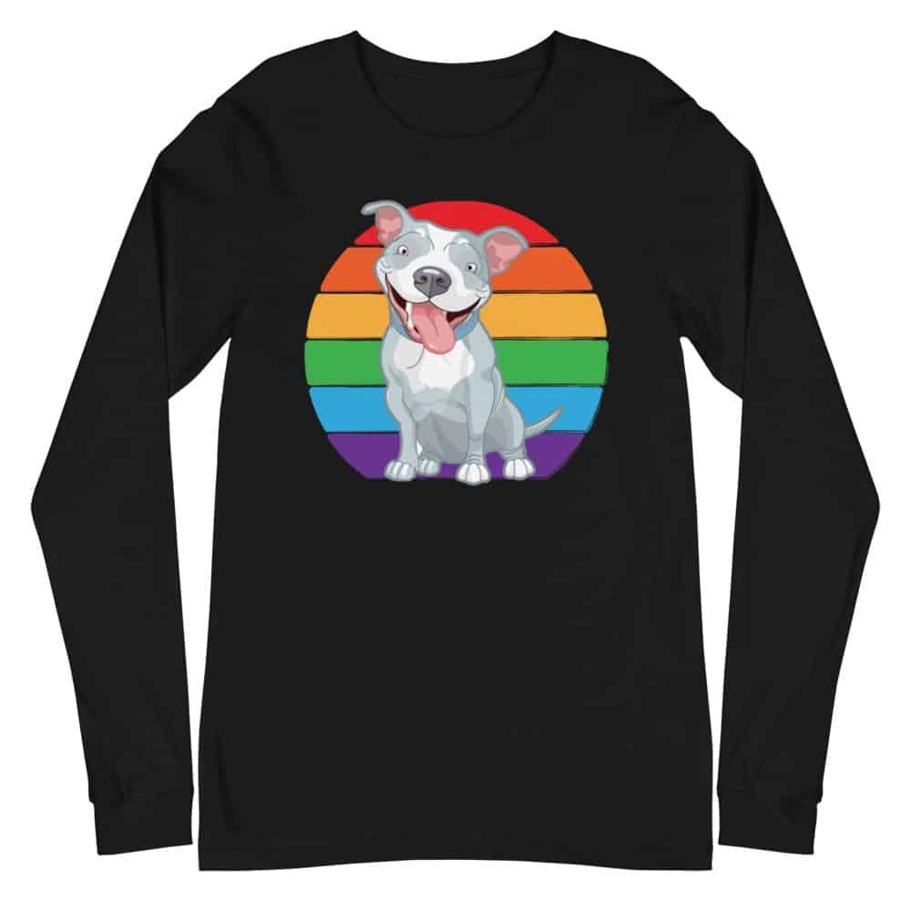 Gay Pride Pit Bull Long Sleeve Tshirt