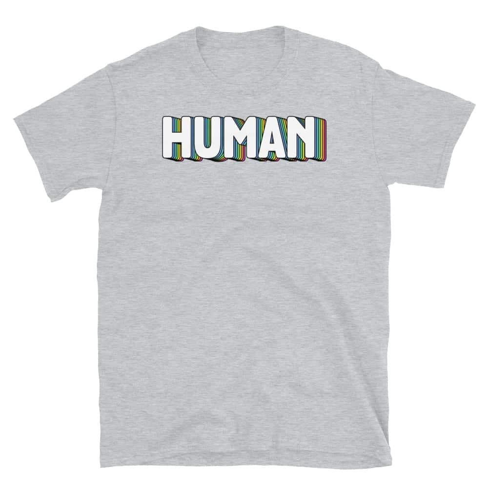 LGBT HUMAN Short Sleeve Tshirt