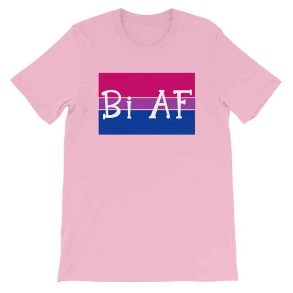 Bi AF LGBTQ Pride Tshirt pink