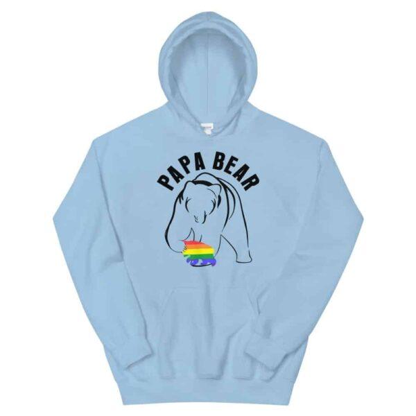 Papa Bear Gay Baby Hoodie Blue