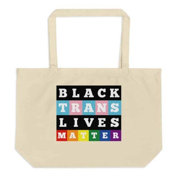 Black Trans Lives Matter Organic Pride Tote Bag
