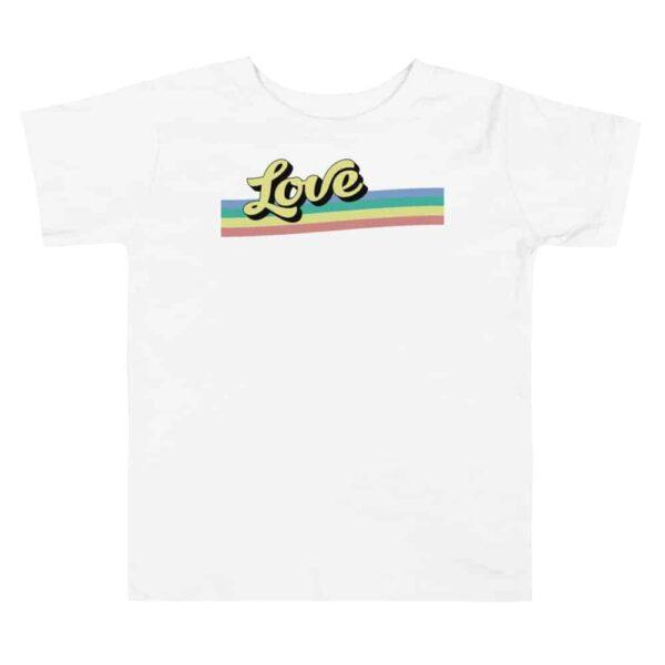 Retro Love Toddler Pride Tshirt
