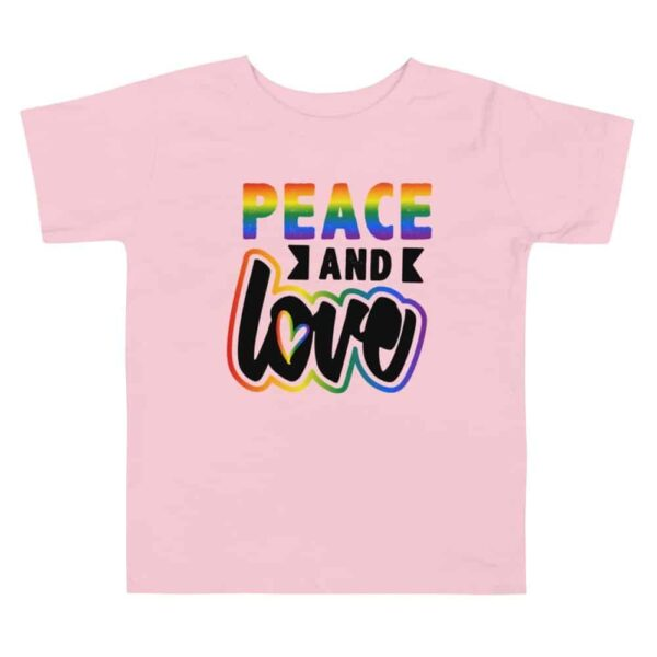 Peace and Love Toddler Tshirt pink