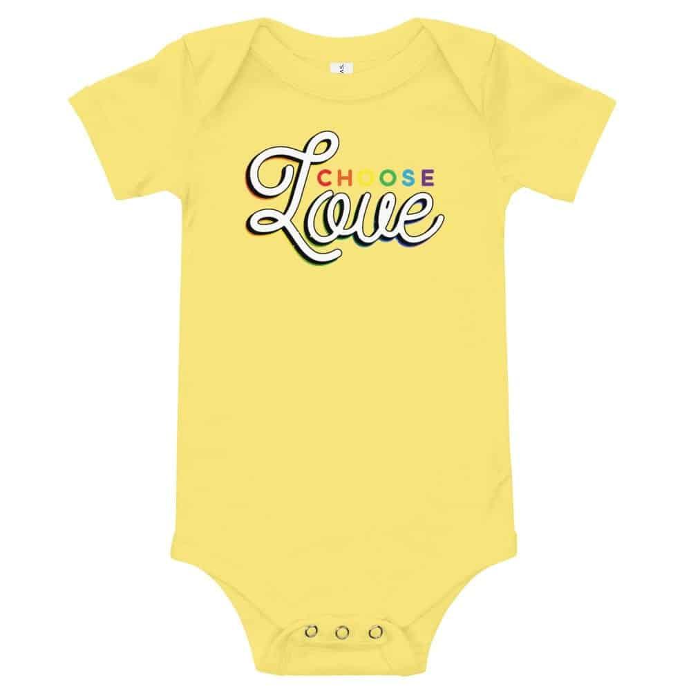 Gay Pride Choose Love Baby Onepiece Bodysuit