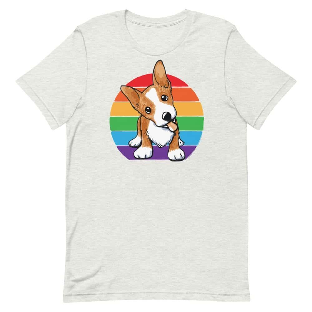 LGBT Corgi Rainbow Pride Tshirt