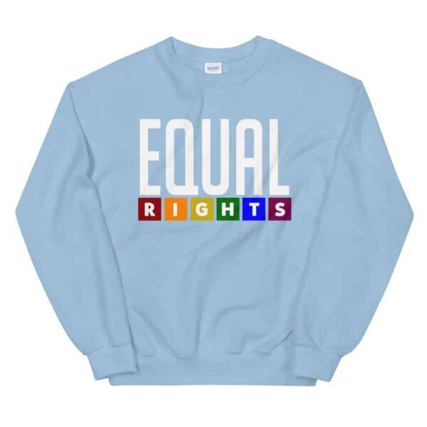 Equal Rights LGBTQ Sweatshirt Light Blue