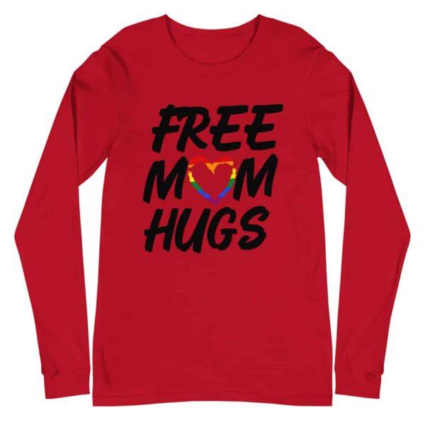 Free Mom Hugs LGBTQ Pride Long Sleeve Tshirt