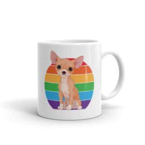 Chihuahua Rainbow Pride LGBTQ Coffee Mug