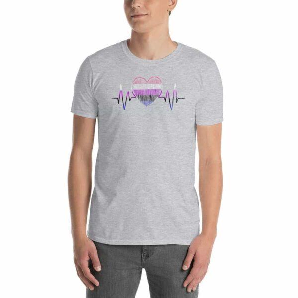 Heartbeat Genderfluid Pride Tshirt