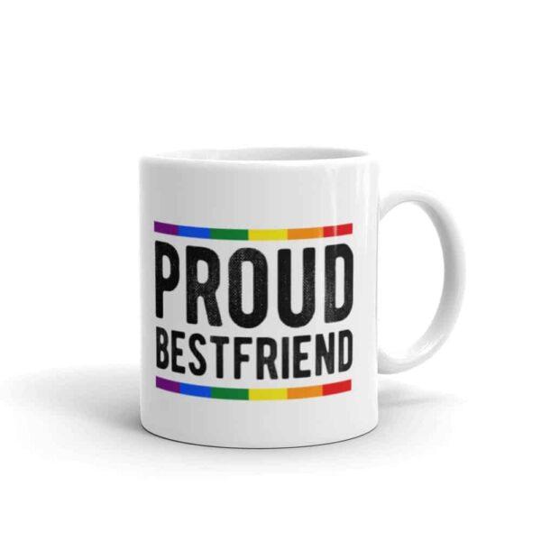 Proud Best Friend LGBT Coffee Mug