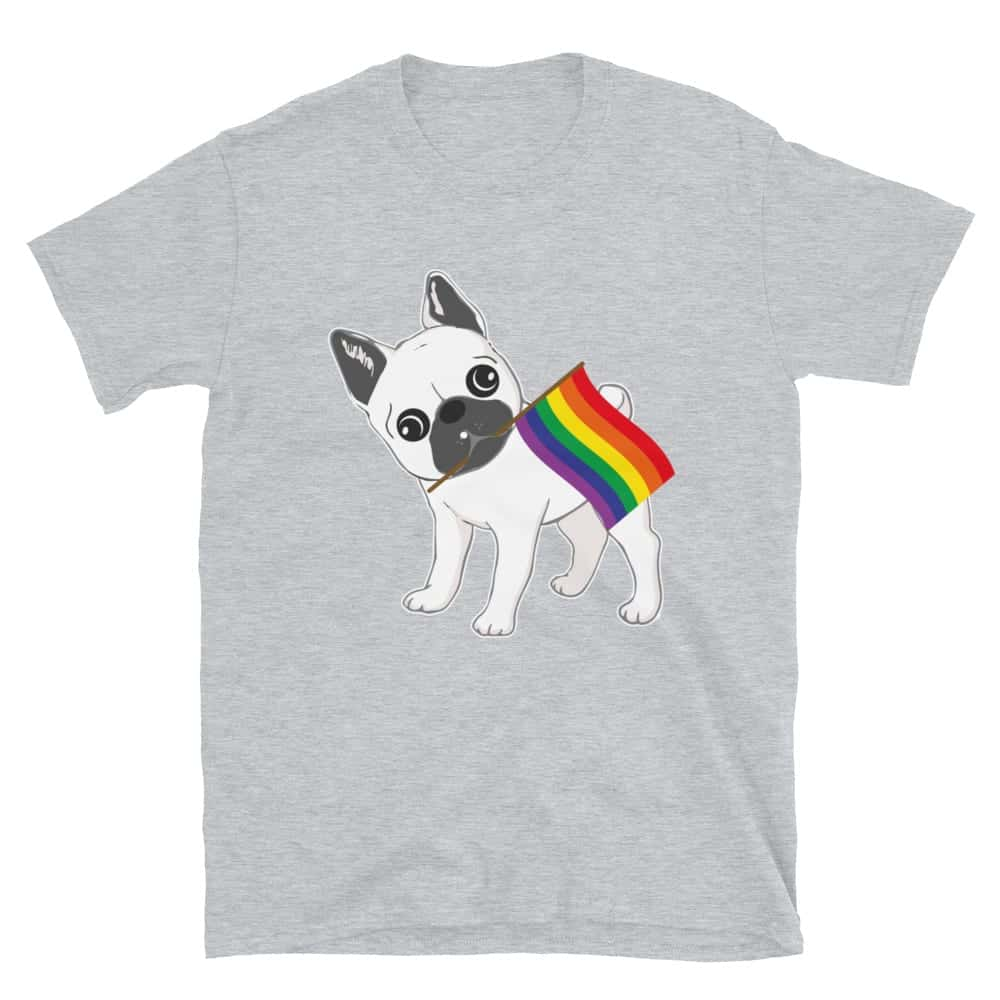 LGBT French Bulldog Gay Pride Tshirt