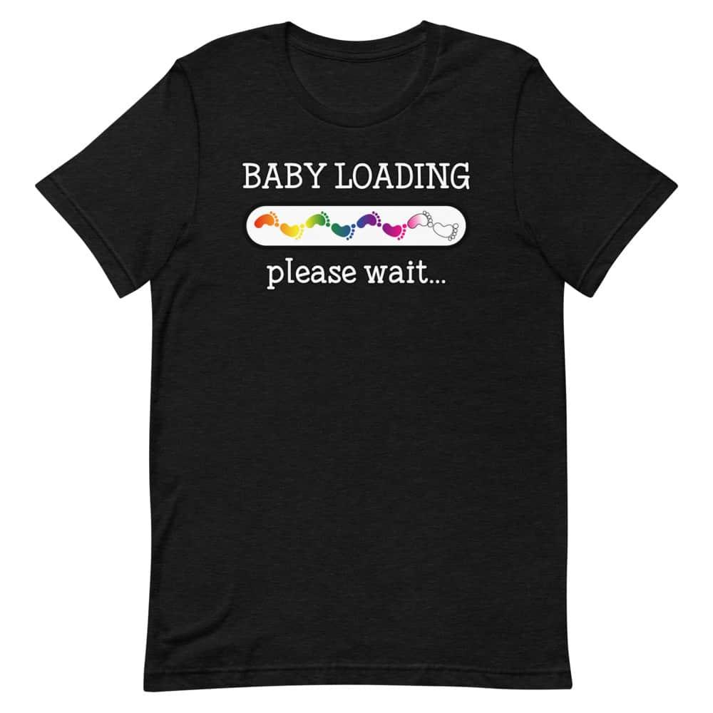 Baby Loading Rainbow Feet LGBT Pride Shirt