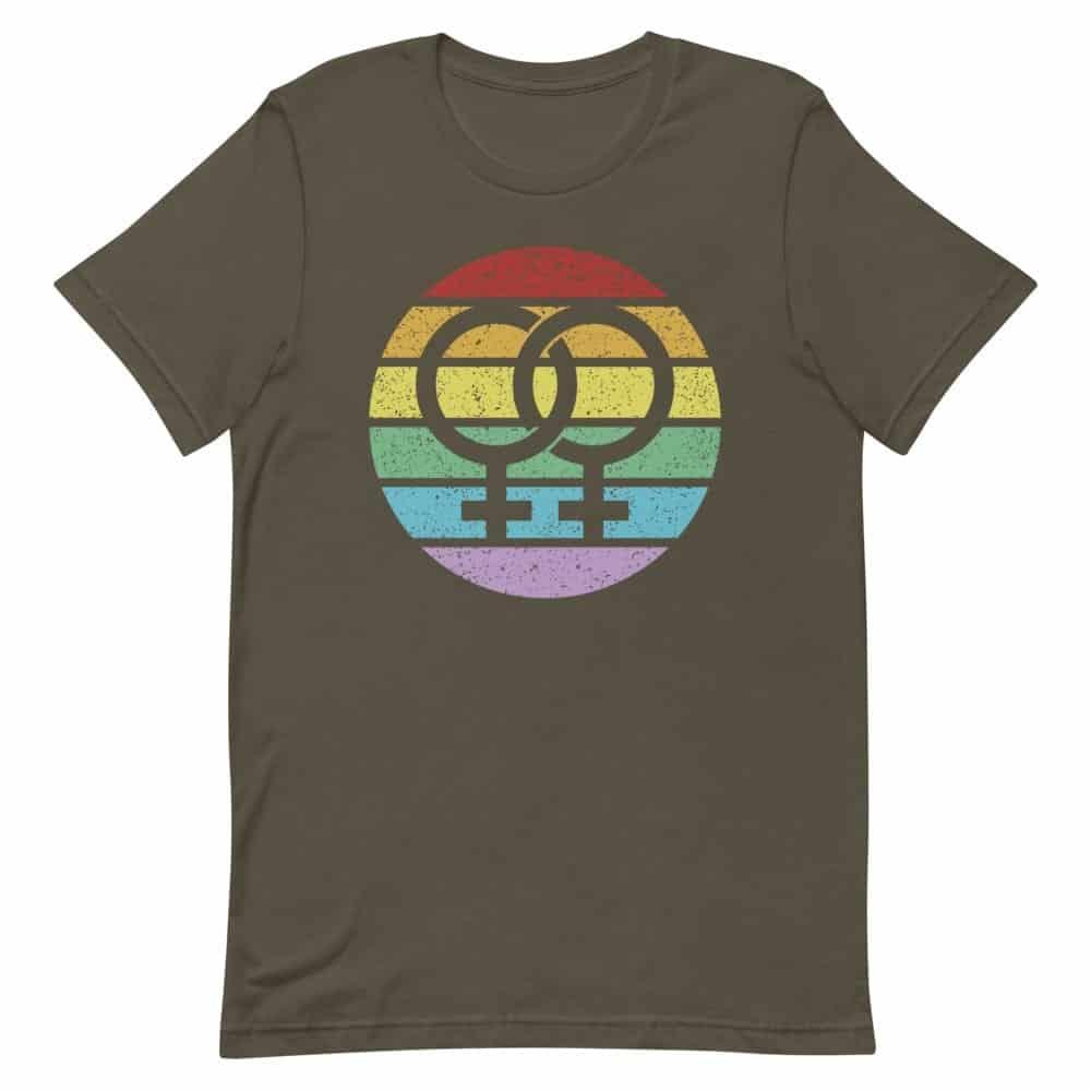 LGBTQ Pride Retro Female Symbol Tshirt