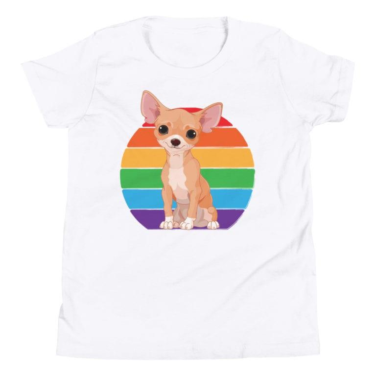 LGBTQ Chihuahua Pride Kid Tshirt