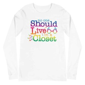 Out of the Closet LGBTQ Pride Long Sleeve Tshirt