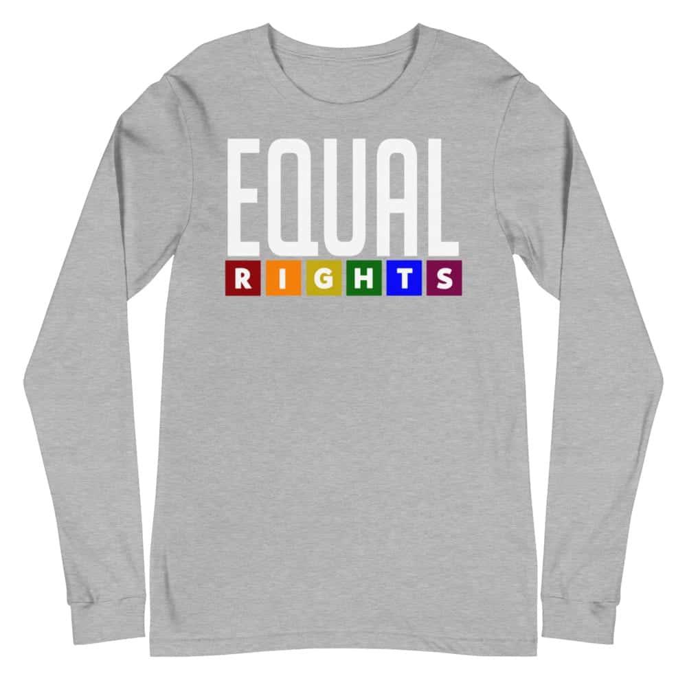EQUAL Rights LGBTQ Long Sleeve Tshirt Gret