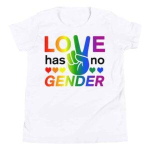 Love Has No Gender Kid Tshirt White