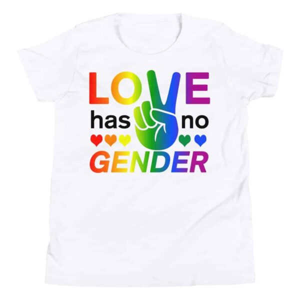 Love Has No Gender Kid Tshirt White