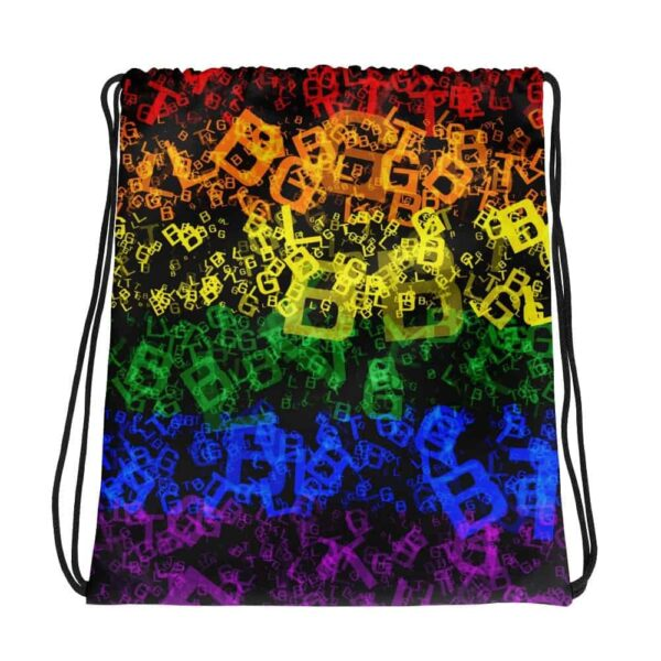 Rainbow LGBTQ Print Drawsting Bag